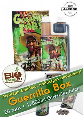 Guerrilla Box (20tabs & 1x500ml Guerrilla Juice)