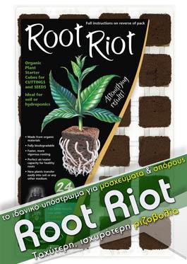 Root Riot 24: Το ιδανικό υπόστρωμα για μοσχεύματα και σπόρους, κατασκευασμένο από σφουγγάρι.