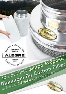 Mountain Air Carbon Filter 125/400mm 340m3/h