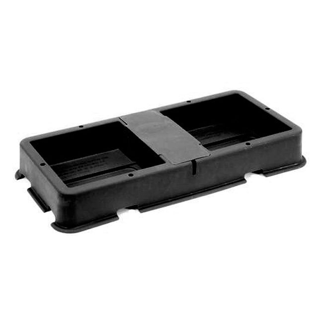 2-Pot Tray & Lid Black