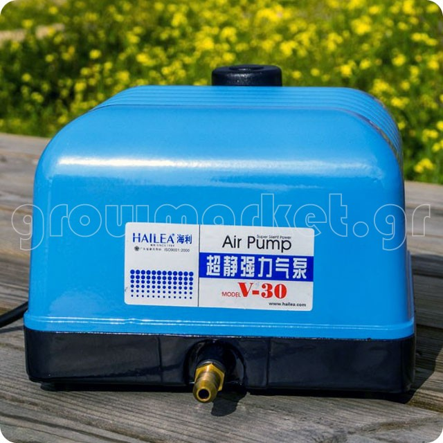 Hailea V30 Super Silent Air Pump 25W - 30lt/m 6 Outlets