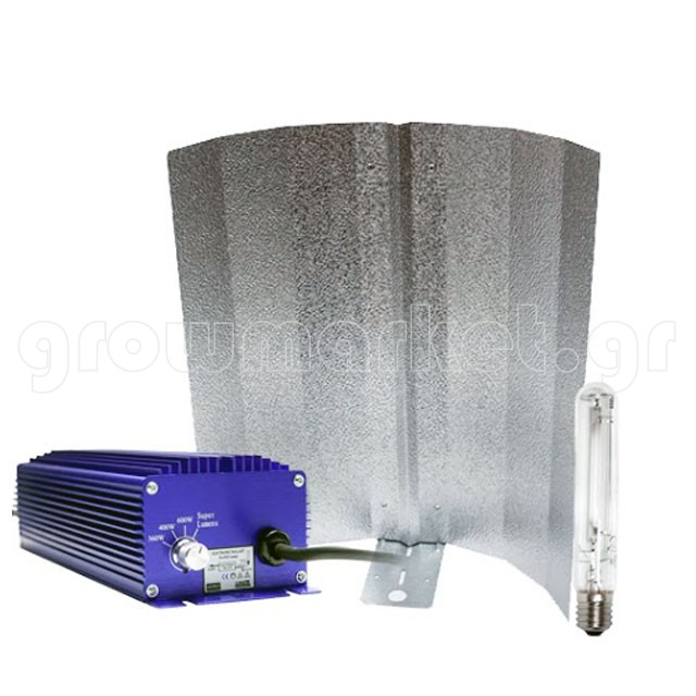 Kit Stucco Reflector with Holder Grolux HPS 400W