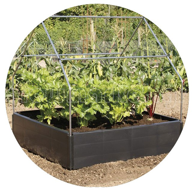 Cannopy Support for Grow Bed
