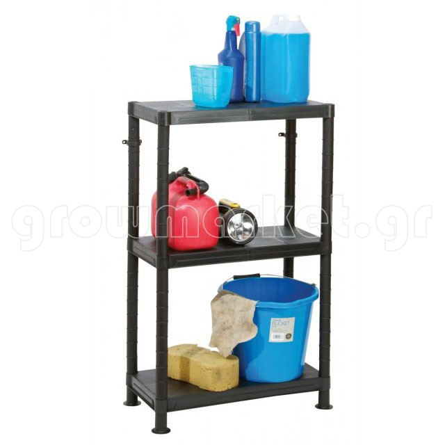 Self Assembly Plastic Shelving 3 Shelf Unit 60cm