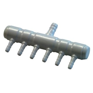 6 Outlet Plastic Air Nutrient Manifold 4mm Outlet