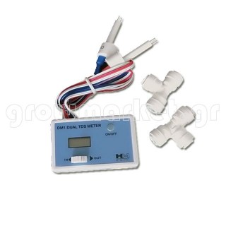 DM1 in Line Dual TDS meter with1-4'' T-fittings