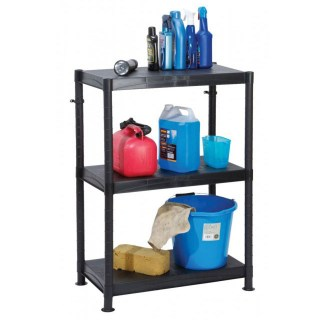 Self Assembly Plastic Shelving 3 Shelf Unit 70cm