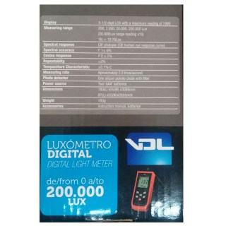 VDL Luxometro Digital Light Meter