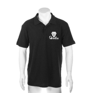 Qnubu Black Polo for Men