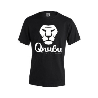 Qnubu Black T-Shirt for Men